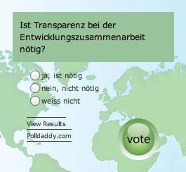 Umfrage Transparenz EZA