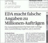EDA macht falsche Angaben zu Millionen-Aufträgen